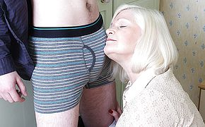 Big British housewife playing with her <b>toy boy</b>