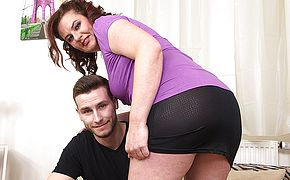 Curvy housewife fucking with her <b>toy boy</b>
