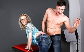 German Housewife fucking and <b>sucking</b> during a photoshoot
