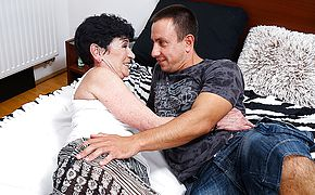 Horny toy boy fucking a naughty mature slut