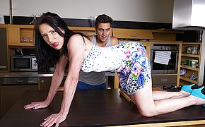 Naughty housewife fucking her <b>toy boy</b>