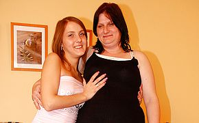 Naughty old and young lesbians have fun