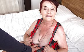 Chubby hairy mature lady getting fucked in <b>POV</b> style