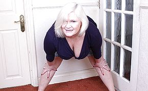 Horny British mature <b>BBW</b> playing alone