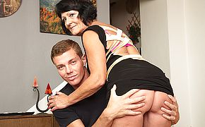 Horny <b>toy boy</b> doing a very naughty mature lady