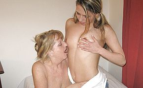 <b>Granny</b> loves to play with a younger fanny