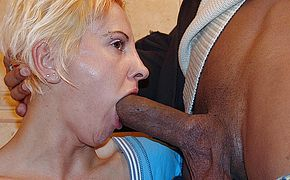 Kinky mature slut licking <b>ass</b> and piss on a toilet