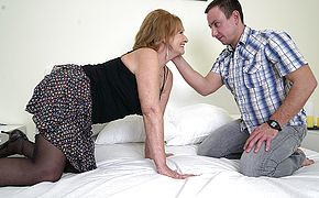 Naughty mature lsut doing her <b>toy boy</b>