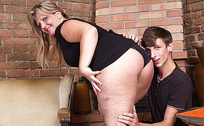 Horny chubby mama fucking and sucking her <b>ass</b> off