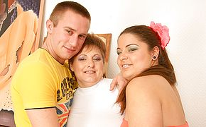 Horny <b>housewife</b> in hot threesome