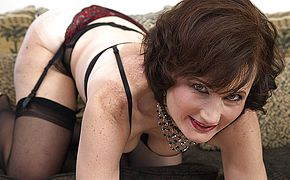 Horny <b>mature</b> lady playing with herself