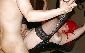 Kinky <b>housewife</b> fucked in the basement