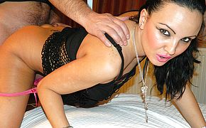 Hot MILF fucking and sucking her <b>ass</b> off