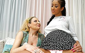 Naughty <b>old</b> and young lesbians making out in bed