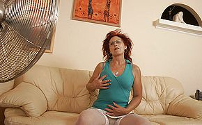 This mama gets fisted by a hot <b>babe</b>