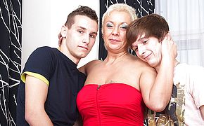 This <b>naughty</b> housewife loves a threesome