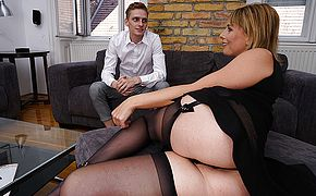 Beautiful Milf is fucked in her pussy and <b>ass</b> by her young toyboy