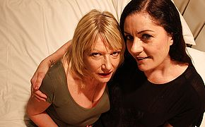 Two British Milfs have hot lesbian sex
