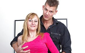 Horny housewife fucking her <b>toy boy</b>