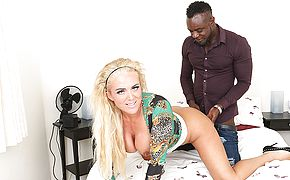Kinky blonde Milf get fucked in the <b>ass</b> by her black boyfriend