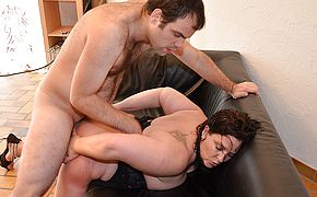 Kinky French housewife gets her pussy fisted and is fucked in the <b>ass</b>
