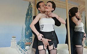 Sexy French mom gets fucked in both holes by her stud