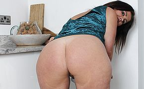 Spanish Milf with big <b>ass</b> fucks herself with a dildo