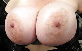 Big titted mama playing with her <b>pussy</b>